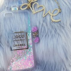 Chanel Perfume Bottle Glitter Quicksand Iphone 6 case