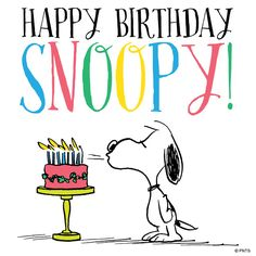 Happy Birthday Snoopy!