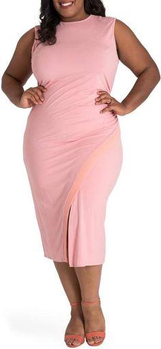 dfed19560ac Poetic Justice Brianna Jersey Sheath Midi Dress Midi Dress Plus Size