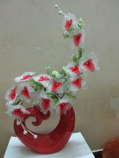 handmade nylon flowers Orchid 1.5ft 30€  Flowers code 035 Phone: 086 3040 684