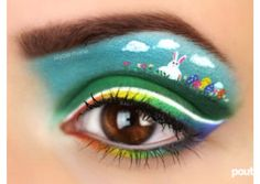 Easter makeup... Wow!
