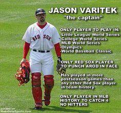 Such a great player... Jason Varitek #33