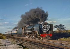 Wesfalia, class No 3440 on the southbound Blue Train, December 1968 red b Beaufort West, South African Railways, Union Of South Africa, Blue Train, Train Service, Port Elizabeth, Alaska Travel, Steam Engine, Steam Locomotive