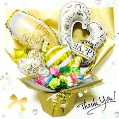 開店祝い♬結婚記念日に❤︎シャンパン バルーンギフト*キャンディブーケ*送料無料 | M'zBalloon エムズバルーン