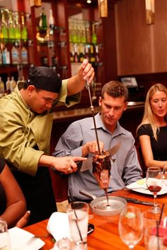 #Pampas Grille West Palm Beach serves up more than 15 types of fresh seafood and spit-roasted meats skewered and carved tableside in Brazil's authentic churrasco-style.