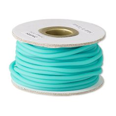 Solid, synthetic rubber cord is a tremendous stringing material. Sizes are approximate and may vary. Color may vary from dye lot to dye lot.