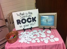 """Rock, Paper, Scriptures"" This seems like a neat idea for a gathering. (This is not my original idea or photo)"