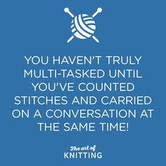 Are you a multi-tasker? #knit #knitting #artofknitting #knittersofinstagram. Something I can't do :-)
