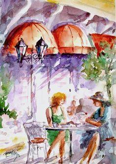 Watercolour by Faruk Koksal #art