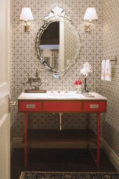 The Peak of Tres Chic: Powder Bath Update & a Wallpaper Hunt
