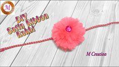 Rakhi Making, Crochet Necklace, Mango, Ribbon, Satin, Youtube, How To Make, Handmade, Diy