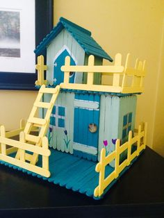 Here we've collected 10 pictures of popsicle stick house and building. This popsicle stick house is the perfect craft for kids to make.We have actually accumulated photos of popsicle stick house as well as structure in below. Popsicle Stick Crafts House, Popsicle Crafts, Craft Stick Crafts, Craft Sticks, Resin Crafts, Kids Crafts, Home Crafts, Diy And Crafts, Ice Cream Stick Craft