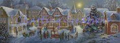Christmas Village NB Counted Cross Stitch Pattern