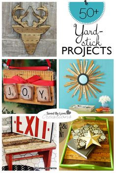 Upcycle Yardsticks Or Rulers To Small Object Storage; Featured At  Totallygreencrafts.com | Your Funky Junk: A Repurposing Community Board |  Pinterest ...