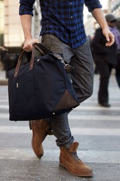 """The rugged urbanite"" #menswear #style #boots #streetstyle (See Rene's ""Bags and Gadget Cases"" board for some great bags!)"