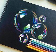 bubbles pencil drawing - Pesquisa Google von ♔ cυτє ♔ | We Heart It