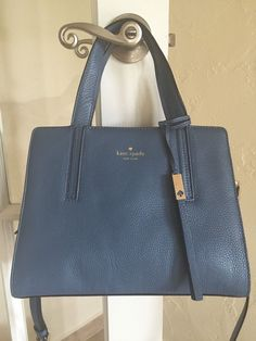 Kate Spade Grey Street Dominique Satchel Harbor Blue Pebble Leather $355 00 | eBay