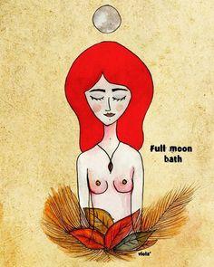 viola': Full moon bath