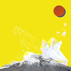 Chimborazo. Digital artwork by Daniela Mora Hernández. From Ecuador with love ♥ #volcano #sun #condor #digital #illustration #geometric