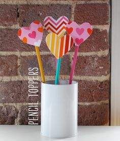 Heart Pencil Toppers