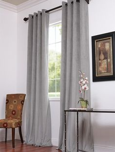 Silver grey velvet curtains for the bedroom?