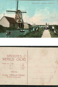 Windmolen in #Krommenie. De Blauwe Arend.
