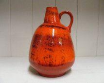 Orange Ruscha Fat Lava vase