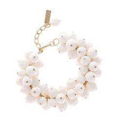 Moschino  White Pearl Bracelet