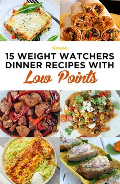 15 Weight Watchers Dinner Recipes with Low Points #lowpoints #ww #weightwatchers #healthydinnerrecipes #weightlossrecipes #roundup #easyrecipes #healthyrecipes