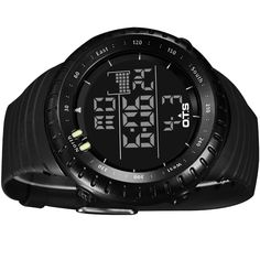 Top Brand OTS Cool Black Mens Fashion Large Face LED Digital Swimming Climbing Outdoor Man Sports Watches Christmas Boys Gift Like if you are Excited! #shop #beauty #Woman's fashion #Products #Watch