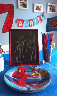 Spiderman Party on a budget Organising, Spiderman, Man Party, Organization, Homemade, Blog, Budget, Party Ideas, Painting