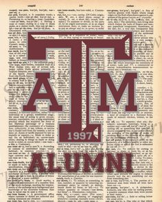 Vintage Dictionary Texas Aggie Print  plus by TheSalvagedSparrow,