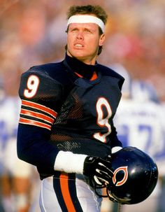 Jim McMahon, here in 1987 called signals for the Bears from 1982-88. (Remember when the QB's actually did that?)