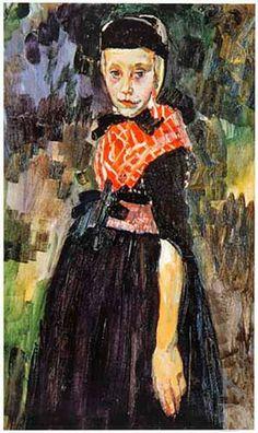 Jan Sluijters Staphorster meisje, ca. 1915 Laren (Noord-Holland), Singer Museum, inv./cat.nr. 98-6-1 #Overijssel #Staphorst