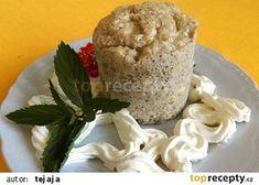 Banánový mugcake s kokosem recept - TopRecepty.cz Muffin, Dairy, Cheese, Breakfast, Food, Morning Coffee, Essen, Muffins, Meals