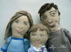 Personalised handmade fabric dolls, portrait dolls, art dolls, embroidery