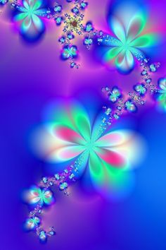 Sylph's Dance Fractal Art ...Purple and Turquoise