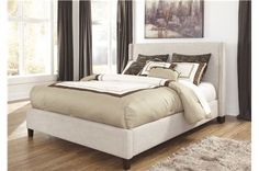 Hillary Eastern King Upholstered Panel Bed - Signature