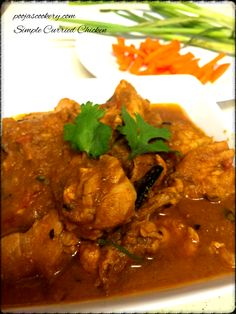Generally we make chicken gravy using coconut as a main ingredient in Goa(India). But today I tried something different with my chicken gravy and it turned out superb. Appreciated by my family. I made chicken by using tomatoes and onions instead of coconut. Also I used curry leaves here for tempering which are mostly used in South Indian Cuisines. This is a very easy curried chicken recipe and doesn't take much time. The consistency of the Gravy for this can be made as per ones choice to be…