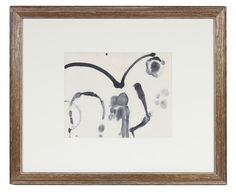 """47355- Hugh Wiley, Late 20th Century, Watercolor on Paper, 23.5""""x19.5"""" Framed $445"""