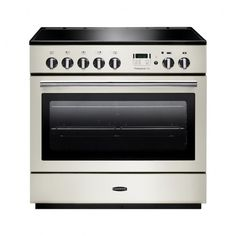 Rangemaster 91110 Professional FX 90cm Dual Fuel, Single Oven Range Cooker in Ivory and Chrome. Call 01302 63 88 05 for prices.
