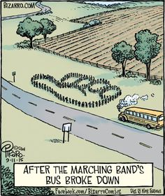 Band Humor (bad humor too, when the bus catches fire and half the band loses their instruments, uniforms, and etc. Band Nerd, Band Puns, Music Jokes, Music Humor, Funny Music, Love Band, Cool Bands, Funny Band Memes, Funny Quotes
