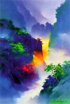 """Enter Spring"" watercolor  by Hong Leung"