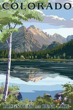 Longs Peak & Bear Lake, Rocky Mountain National Park, Colorado #VintageVacation