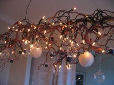 trollhassel pynt - Google-søk Chandelier, Xmas, Ceiling Lights, Candles, Google, Holiday, Diy, Home Decor, Homes