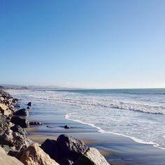 Miramar Beach, Half Moon Bay, CA-My secret boogieboarding spot