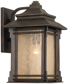 Hickory Point Rustic Farmhouse Outdoor Wall Light Fixture Walnut Bronze Lantern Frosted Cream Glass for Exterior House Porch Patio Deck Garage - Franklin Iron Works Outdoor Wall Light Fixtures, Outdoor Wall Lantern, Outdoor Walls, Outdoor Sconces, Garage Lighting, Outdoor Wall Lighting, Exterior Lighting, Lighting Ideas, Craftsman Lighting