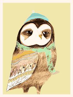 pensive owl by Ashley Percival