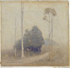 J.W. TRISTRAM  Sydney, New South Wales, Australia 1872 – 1938  not titled [Landscape]  [Morning gray]1922