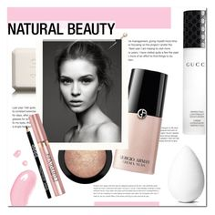 """""""Al naturale"""" by living-on-the-catwalk ❤ liked on Polyvore featuring beauty, MAC Cosmetics, Chanel, Gucci, Giorgio Armani, L'Oréal Paris, beautyblender and Christian Dior"""